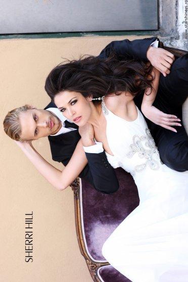 Rochie Sherri Hill 3858 White