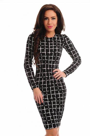 Rochie Specific Pattern Black