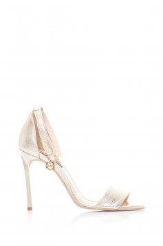 Sandale Mineli Boutique Din Piele Naturala Glamorous Gold