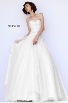 Rochie Sherri Hill 32137 White