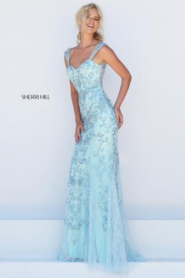Rochie Sherri Hill 50276 Blue