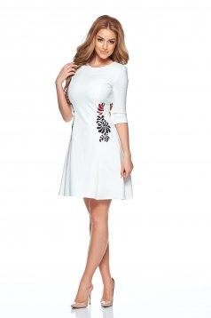 Rochie StarShinerS Brodata Mystic Line Special White