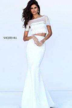 Sherri Hill 50539 White Dress