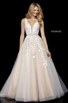 Rochie Sherri Hill 11335 White