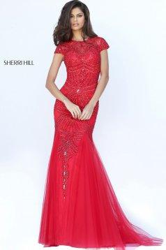 Rochie Sherri Hill 50516 Red