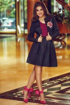 StarShinerS Theo Rose Novelty Black Skirt