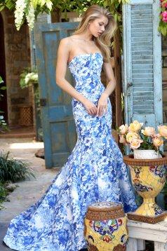 Rochie Sherri Hill 51198 Blue