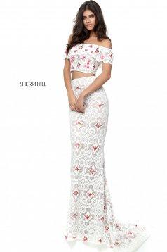 Rochie Sherri Hill 50785 White