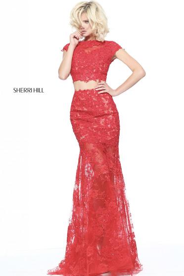 Rochie Sherri Hill 51013 Red