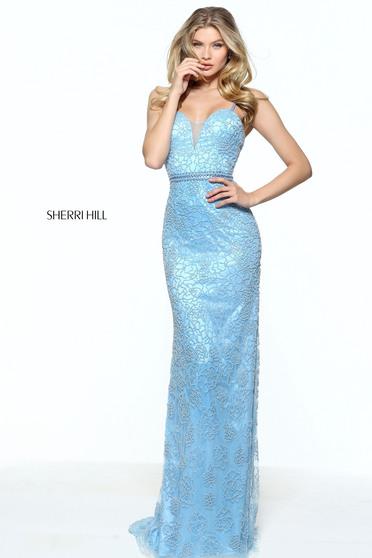Rochie Sherri Hill 51074 LightBlue