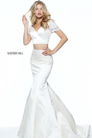 Rochie Sherri Hill 51119 White