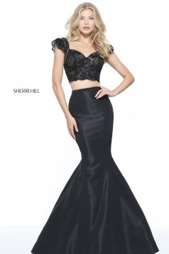 Rochie Sherri Hill 51230 Black