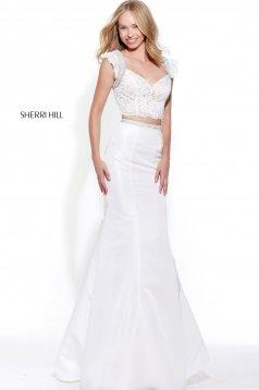 Rochie Sherri Hill 51230 White