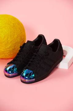 Pies suaves Cuestiones diplomáticas ventaja  Adidas black natural leather superstar 80s originals sneakers with lace