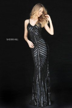 Rochie Sherri Hill 51206 Black