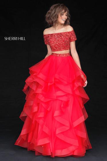 Rochie Sherri Hill 51272 red