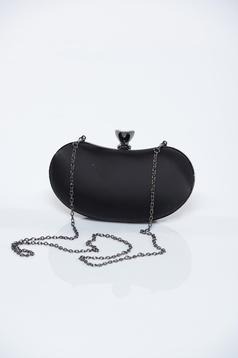 Geanta dama de ocazie neagra cu lantisor detasabil