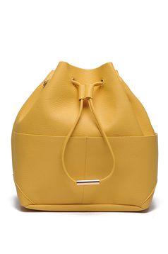 Geanta dama Top Secret galbena casual accesorizata cu snur