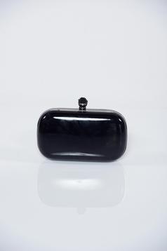 Geanta dama neagra de ocazie cu accesoriu metalic