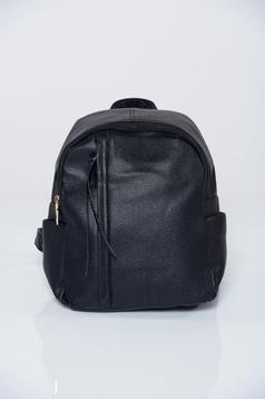 Rucsac negru casual compartimentat cu buzunare interioare