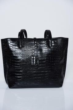Geanta dama Top Secret neagra casual din piele ecologica