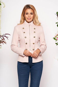 Jacket LaDonna rosa office inside lining button accessories