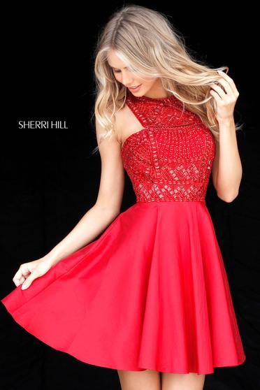 Rochie Sherri Hill 51302 Red