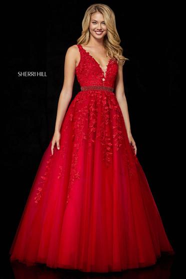 Rochie Sherri Hill 11335 Red