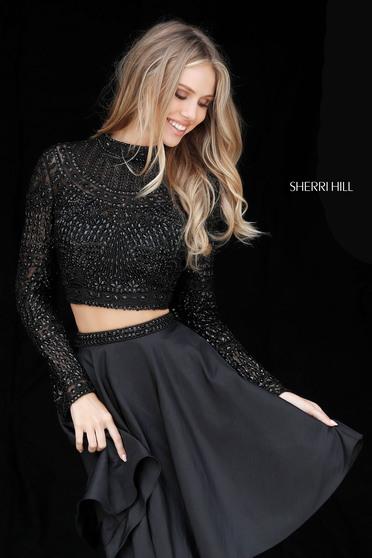 Rochie Sherri Hill 51301 Black