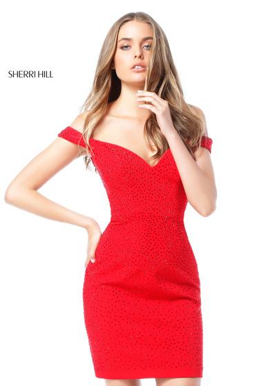 Rochie Sherri Hill 51324 Red