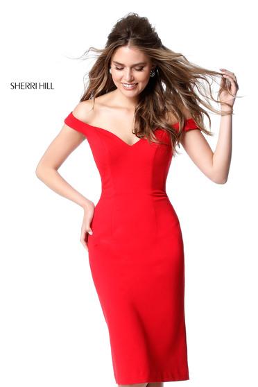 Rochie Sherri Hill S51338 Red