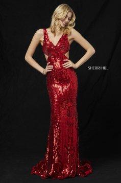 Rochie Sherri Hill 51364 Red