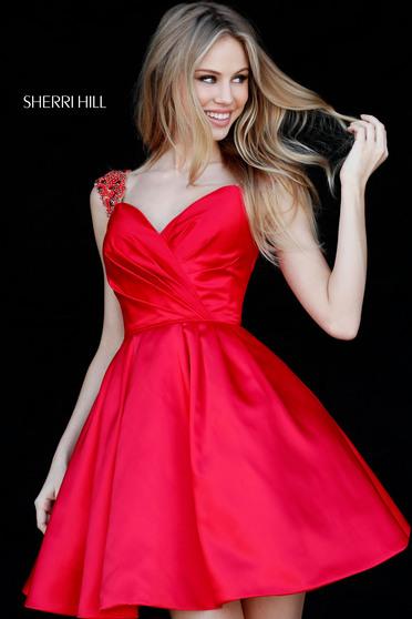 Rochie Sherri Hill 51389 Red