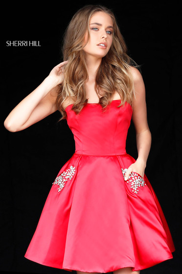 Rochie Sherri Hill 51390 Red
