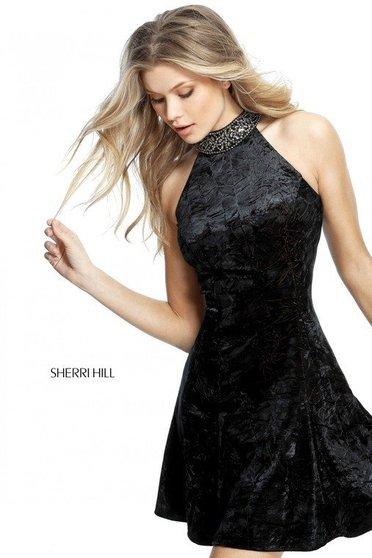 Rochie Sherri Hill 51404 Black