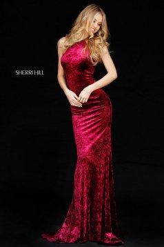 Rochie Sherri Hill 51424 Burgundy