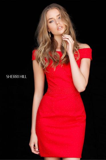 Rochie Sherri Hill 51425 Red
