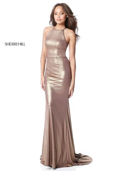 Rochie Sherri Hill 51428 Gold