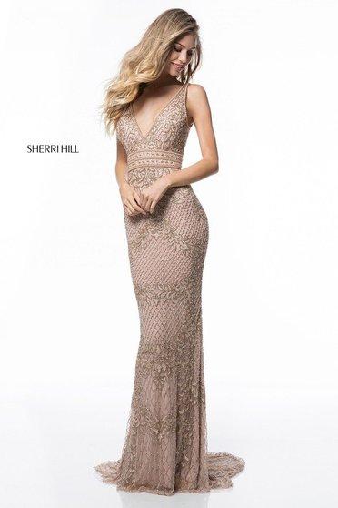 Rochie Sherri Hill 51475 Nude