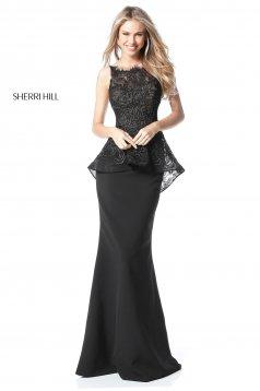 Rochie Sherri Hill 51490 Black