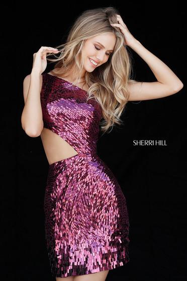 Rochie Sherri Hill 51497 Magenta