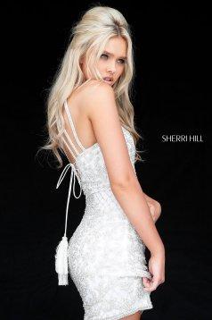 Rochie Sherri Hill 51501 ivory