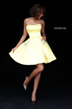 Rochie Sherri Hill 51390 Yellow