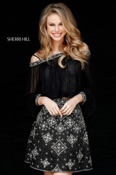 Rochie Sherri Hill 51357 Black