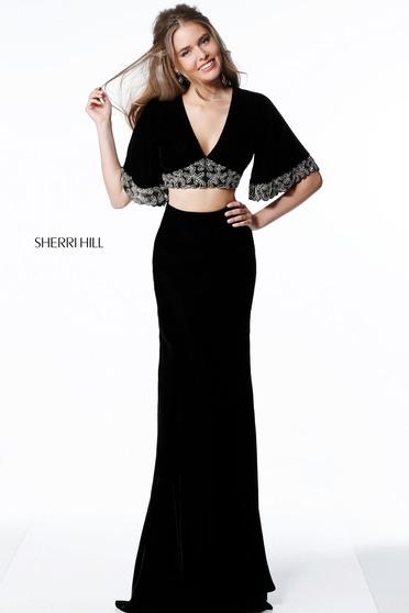 Rochie Sherri Hill 51477 Black