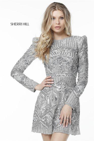 Rochie Sherri Hill 51343 Silver