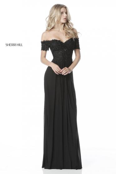 Rochie Sherri Hill 51556 Black