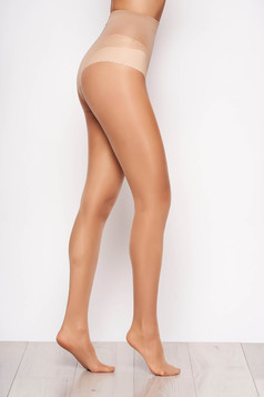 Nude 20 den modeller women`s tights with fitted heel and flat seam