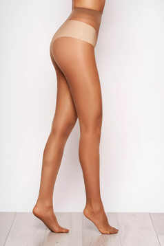 Nude 20 den pressure-free border women`s tights from shiny fabric