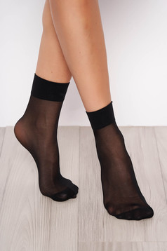 Black 20 den women`s tights soft flat seam